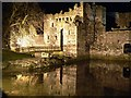 SH6076 : Beaumaris Castle at Night by Stephen Elwyn RODDICK