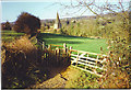TQ0747 : Footpath into Shere from the South-east. by Colin Smith