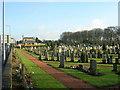 NS7760 : Holytown Cemetery by Iain Thompson
