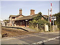 TQ7323 : Robertsbridge station and level crossing by graham ross