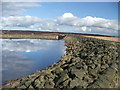 SD9720 : Eastern corner of White Holme Reservoir. by Steve Partridge