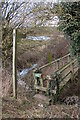 SO8566 : Footbridge, Doverdale by Philip Halling