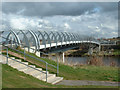 NS3219 : River Doon Millennium Bridge, Ayr by Oliver Dixon