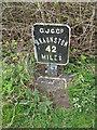 SP8828 : Milepost by Martin Addison
