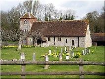 SU4541 : St Michael and All Angels, Lower Bullington by Peter Jordan