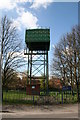 SK6297 : Stripe Road water Tower by Richard Croft