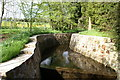 ST5563 : Walled Stream by Adrian and Janet Quantock