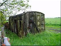 SJ2260 : Disused railway carriage by Eirian Evans
