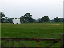 SJ6743 : Audlem Cricket Club ground by Nigel Williams