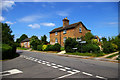 Dist:0.2km<br/>At this junction you can go left for Hainton and Louth or right for Benniworth and Horncastle. The Parish Hall on the left has a rather Post-modernist appearance [[186110]].