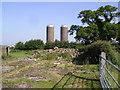 SJ3660 : Silos near Dodleston by Michael Graham