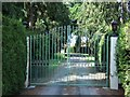 SP9704 : Thorne Barton Hall Gates by Rob Farrow