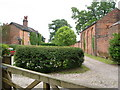 SJ8158 : Cottages and outbuilding at Boden Hall by Derek Harper