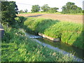 SP0240 : Gauging weir in the River Isbourne by David Stowell