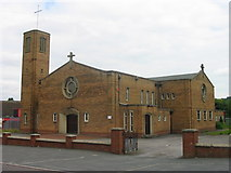 SJ9048 : St Benedict, RC Church, Abbey Hulton by Phil Eptlett
