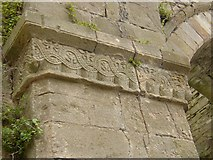 S5740 : Carved capital, Jerpoint Abbey, Thomastown, Co. Kilkenny by Humphrey Bolton