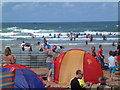 SW8364 : August day at Watergate Bay by Gary Rogers