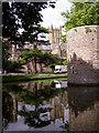 ST5545 : The moat at the Bishop's Palace, Wells by Jim Champion