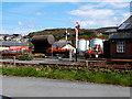 SN5881 : Vale of Rheidol Railway Workshop & Yard , Aberystwyth by John Lucas