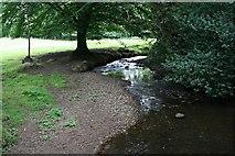 SW9865 : Stream near Tregolls by Tony Atkin