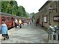 SE0335 : The Platform, Oxenhope Railway Station by Nigel Homer