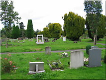 TQ5540 : Cemetery between Langton Green and Speldhurst by Nikki Mahadevan