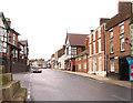 SJ4847 : High Street in Malpas by Peter Craine