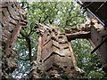 SP7611 : Dinton Castle ruins - from the inside by Rob Farrow