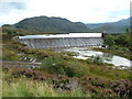 NG8472 : Weir on Loch Bad an Sgalaig . by Dave Fergusson