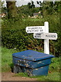 SE7851 : Yapham Village. Roadsign in Foreground. by Charles Rispin