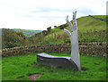 SJ9573 : Sculpture at northern Tegg's Nose viewpoint by Espresso Addict