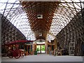 SU8712 : Inside the Weald and Downland Gridshell by Hugh Chevallier
