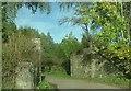 NJ6301 : Kirkbrae railway bridge abutments by Stanley Howe