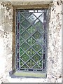 SP8516 : Porch window, All Saints, Hulcott by Rob Farrow