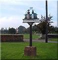 TF6832 : Ingoldisthorpe Village Sign by Martin Pearman