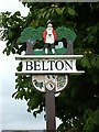 TG4803 : Belton Village Sign by Bob Crook
