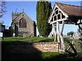 SO6973 : Bayton Church and lychgate by Richard Greenwood