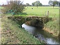 SJ3957 : Sandstone Bridge over Pulford Brook by John S Turner