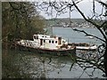 SW8137 : Boat moored in Restronguet Creek by Lynne Glazzard