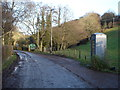 SO2821 : Telephone box on junction below the Mynydd Du Valley by Philip Halling