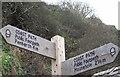SW4524 : South West Coast Path Sign by Maigheach-gheal
