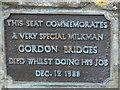 Photo of Gordon Bridges plaque