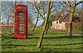 TL2379 : Telephone box & Manor Farm in Wennington by Simon Barnes