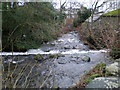 SH5909 : Weir in River Gwril by Hefin Richards