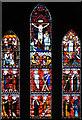 TF9833 : St Andrew, Thursford, Norfolk - East window by John Salmon