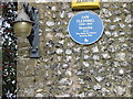TR1652 : Detail on the Blue Plaque, Duck Inn. by Nick Smith