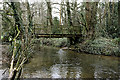 SU5215 : Footbridge over River Hamble at Durley Mill by Peter Facey