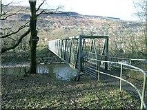 SN7607 : Cycle track bridge by Hywel Williams