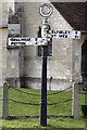 TL2554 : Sign Post, Waresley, Cambridgeshire by Martin John Bishop