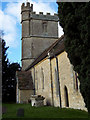 ST8115 : Manston Church by Miss Steel